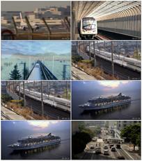 四大交通视频素材