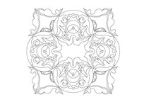 四角花边雕刻纹样