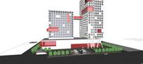 现代感概念风格办公酒店
