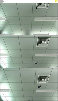 仰视医院天花板实拍视频素材