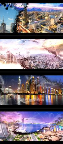 中国风水墨城市宣传片模板