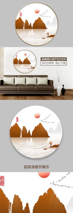 中式山水水墨意境装饰画