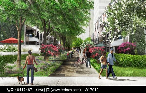 住宅区植物设计效果图图片