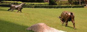 草坪动物雕塑小品