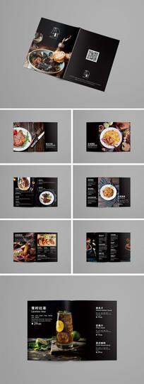 大气黑色西餐菜单模板