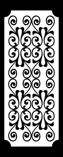 花藤蔓雕刻图案
