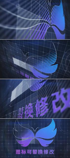 科技标志展示ae模板