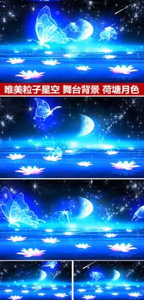 粒子星空荷塘月色婚礼背景视频