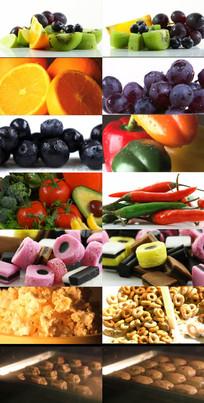 水果蔬菜镜头展示视频 mov