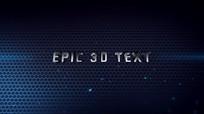 震撼3d三维文字动画标题视频模板