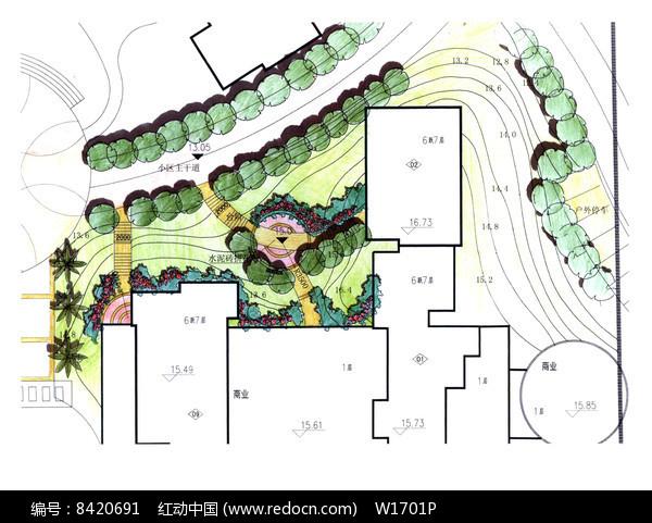 住宅区绿地景观入口设计图片