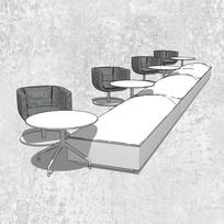 白灰色沙发组合