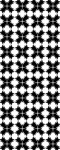 现代黑白花纹图案