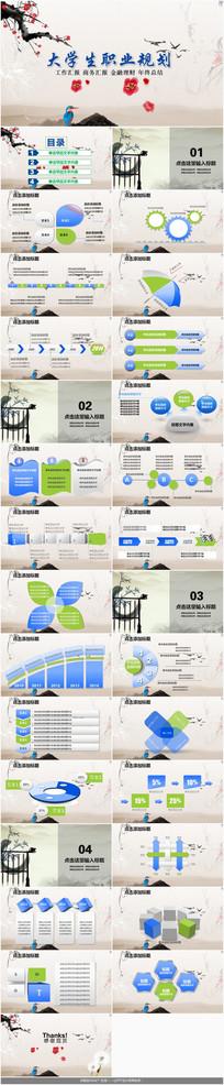 中国风大学生职业规划PPT