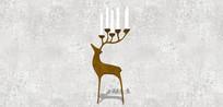 装饰小鹿烛台