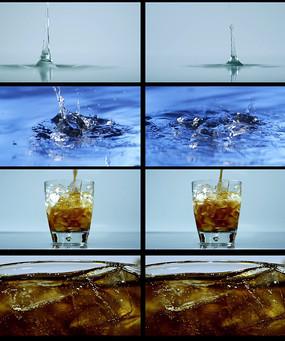 滴水啤酒加冰块视频