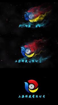 粒子飞散logo动画模板