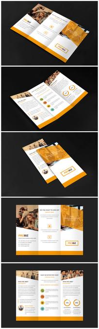 商务公司招商宣传三折页设计