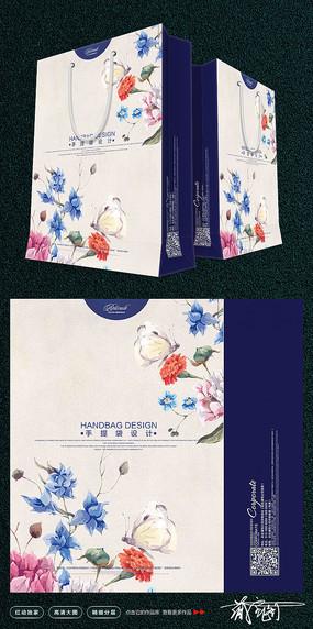 时尚花朵购物袋设计 PSD