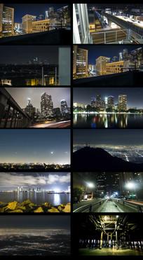 延时城市夜景视频