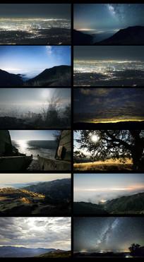 延时星光夜空风景视频