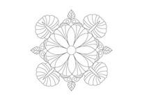 变形喇叭花元素雕刻纹样