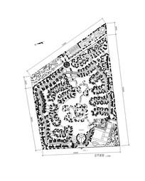 别墅区植物配置总平面图