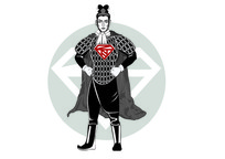 兵马俑系列超人插画
