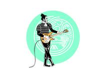 兵马俑系列弹吉他插画