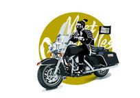 兵马俑系列摩托骑士插画