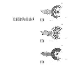 滨水休闲广场平面及定位图 CAD