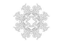 传统菊花雕刻纹样