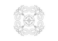凤凰元素雕刻纹样