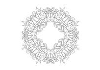 莲花元素环形雕刻纹样