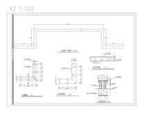 木长凳平面图 CAD