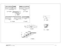 室外人行道马路台阶断面详图 CAD