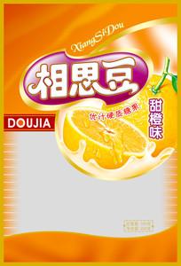 甜橙味相思豆糖果包装设计