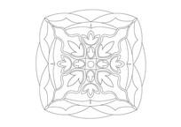 图形叠加组合雕刻纹样