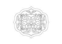 祥云树叶组合异形雕刻纹样