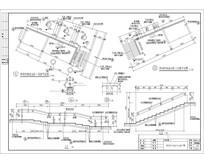 阵列竹林处台阶局部详图 CAD