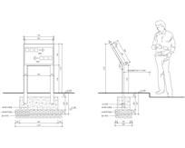 指示牌样式及安装详图 CAD