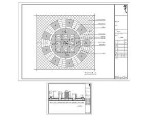 中心景臺平面圖 CAD