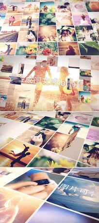 100多张相片展示照片墙模板