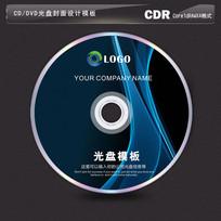 暗蓝色科技线条光盘设计