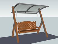 玻璃罩秋千座椅 skp
