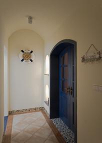 度假民宿室内入口装修