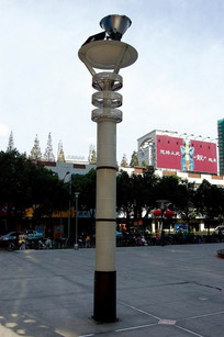 广场玻璃景观灯柱 JPG