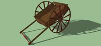 古代手推车的SKP模型