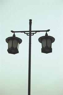 古典中式灯柱 JPG