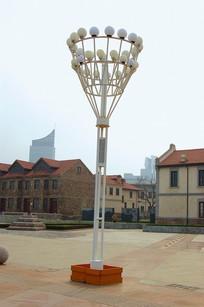 国外广场中心照明灯柱 JPG